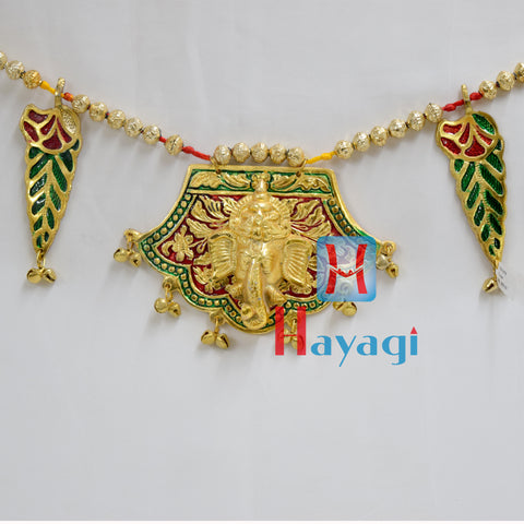 Toran Home Ganesha Design Gold Finishing Online - Hayagi