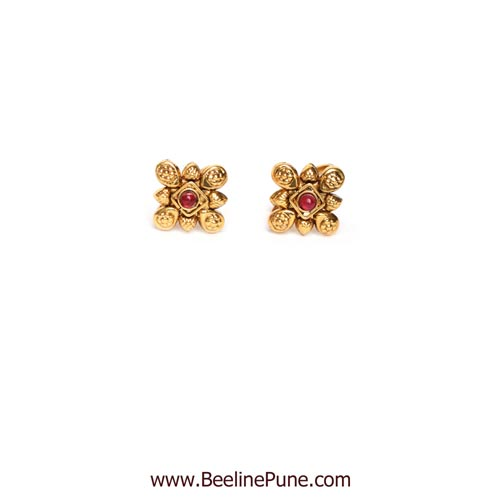 Toe Rings With Red Colored Stones Online - Hayagi