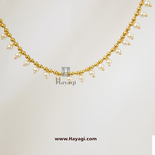 Kaan Chain, Jhumki Earrings Kaan Vel ,Golden Pearl Vel Buy Online- Hayagi