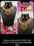 Combo Set, Traditional Necklace & Kada Jewellery Set Buy Online -Hayagi