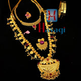 Maharashtrian Combo Set, Necklace & Bangles Jewellery Set Online  -Hayagi