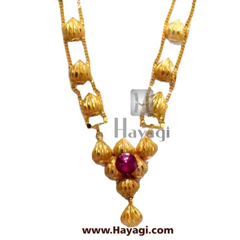 Modak Haar in Gold Forming For Ganapati  -Hayagi