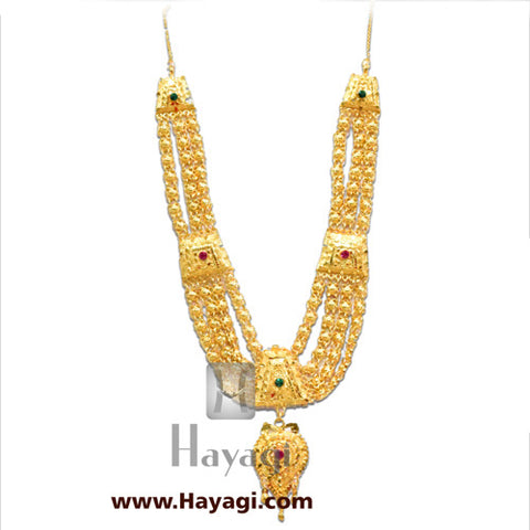 Haar for Gauri Ganesh Ganapati Necklace Online-Hayagi