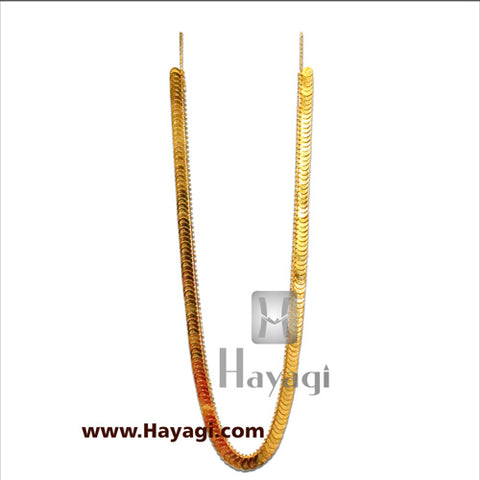 Putli Chapla Haar Long Lakshmi Coin Temple Necklace -Hayagi