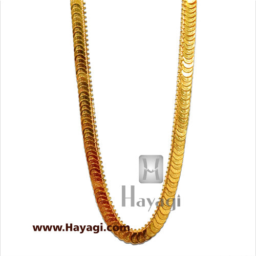 Putli Chapla Haar Long Lakshmi Coin Temple Necklace_Hayagi