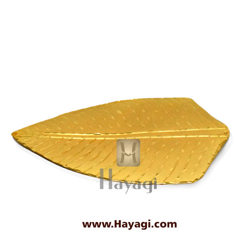 Naivedya Banana Leaf for Ganesh Ganapati Ornament -Hayagi