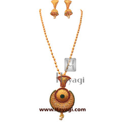 Pendant Antique Gold Plated Kemp , Fashion Jewellery Online-Hayagi
