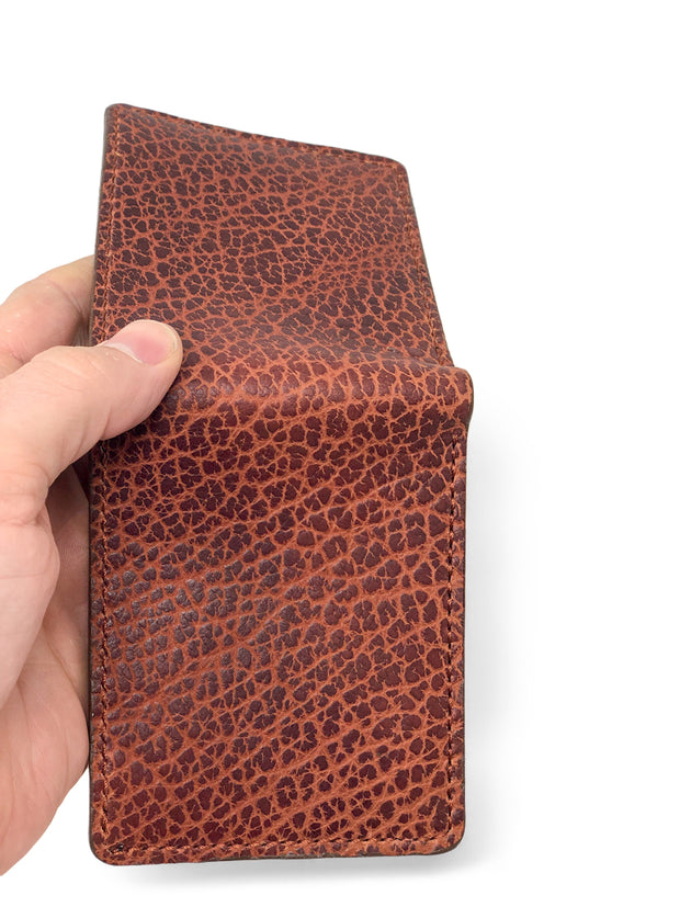 Handmade Leather Wallet |  Bifold |Cognac Bison and Horween Leather