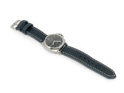 """Calhoun"" Premium Watch Strap with Navy Blue Badalassi Leather"