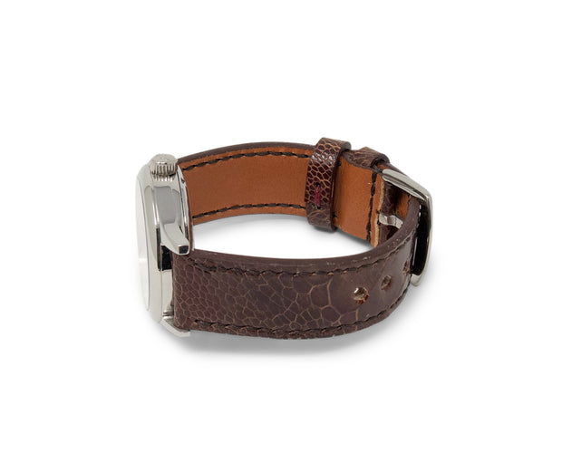 Premium Strap with Dark Cognac Ostrich Leather