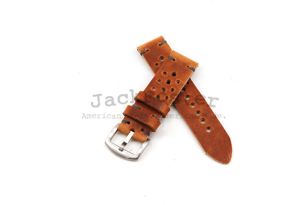 Standard Rally Watch Strap with Natural Dublin Leather - JackFosterWatchStrap