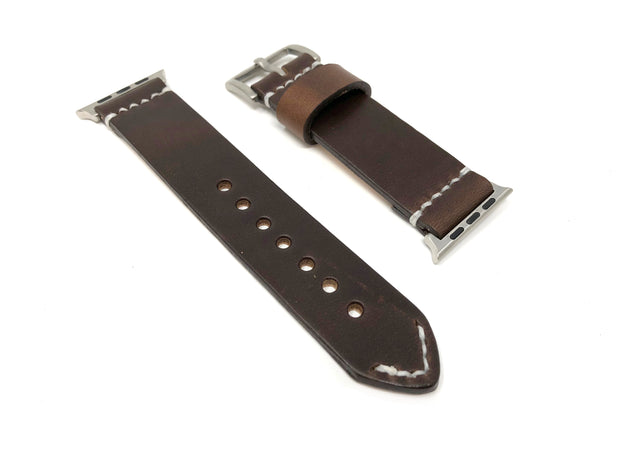 Premium Apple Watch Strap with Dark Brown Chromexcel Leather - JackFosterWatchStrap