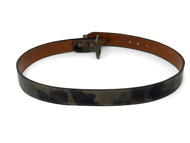 Handmade Leather Belt | Vegetable Tanned Camo |