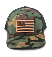 USA Flag Hat - Camo