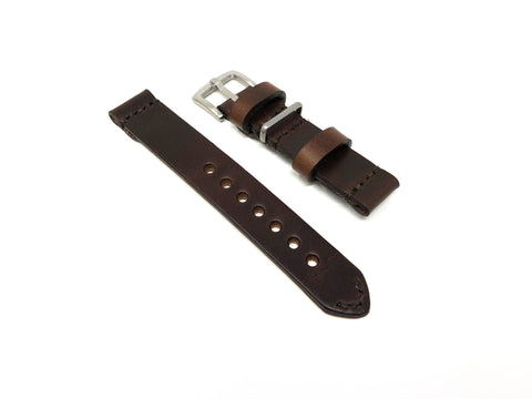 Premium Aviator Strap in Horween Dark Brown Chromexcel