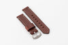 Premium Watch Strap with Brown English Bridle Leather