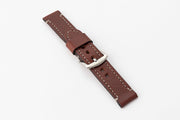 Premium Watch Strap with Brown English Bridle Leather - JackFosterWatchStrap