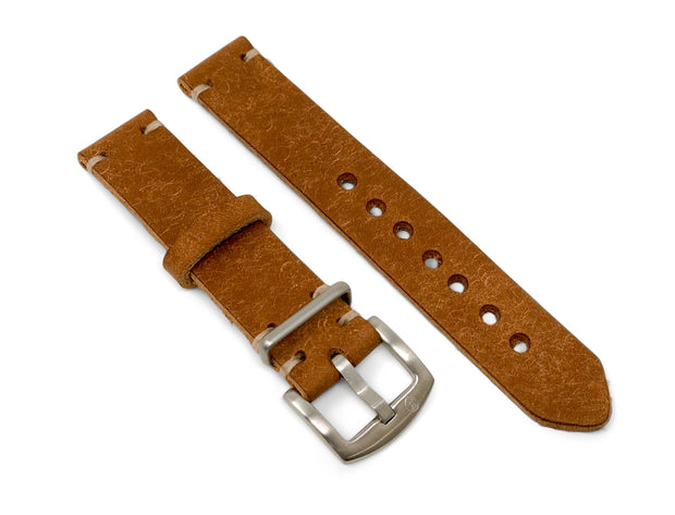 Aviator Strap in Tan Pueblo Vegetable Tanned Leather