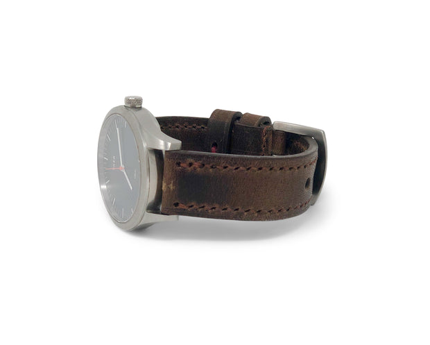"""Calhoun"" Premium Watch Strap with Horween Chestnut Dublin"