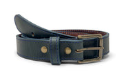 Handmade Leather Belt | Horween Midnight Blue Chromexcel