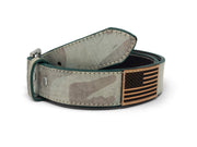 Handmade Leather Belt | Ghost Camo | Olive