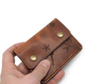 Jack Foster English Tan Tattoo Snap Wallet