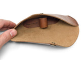 Glasses Case in Caramel Harness Leather
