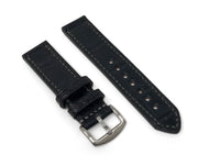Premium Strap with Black Alligator Leather