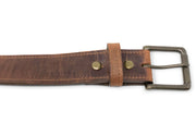 Handmade Leather Belt | Red Wing Copper Rough and Tough