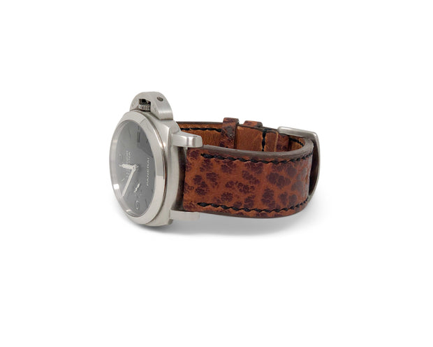 """Calhoun"" Premium Watch Strap with Cognac American Shrunken Bison"