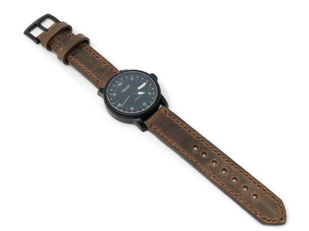 """Calhoun"" Premium Watch Strap with SB Foot Roughout Leather"