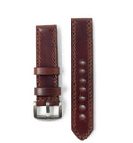 """Calhoun"" Premium Watch Strap with Cedar Shell Cordovan"