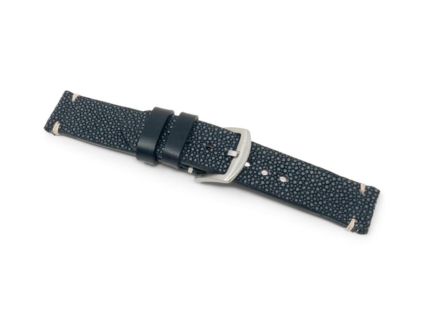 Premium Strap with Black Polished Stingray
