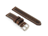 Premium Watch Strap with Dark Brown Chromexcel Leather