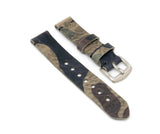 Standard Watch Strap with Camo Print Leather
