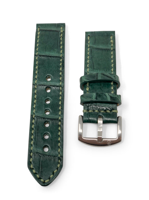 Jack Foster Premium Strap with Hunter Green Alligator Leather