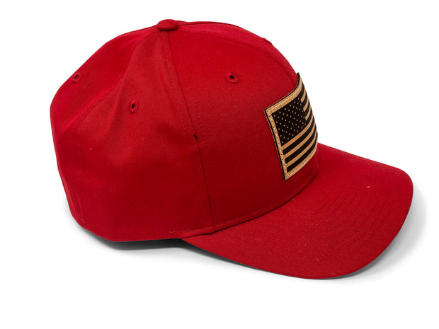 USA Flag Hat - Red