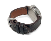Premium Strap with Brown Lizard Leather