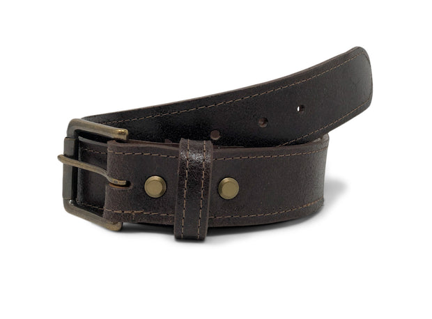 Handmade Leather Belt | Horween Java Waxed Flesh Leather |