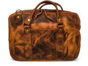 Slim Briefcase in Red Wing Copper Rough and Tough