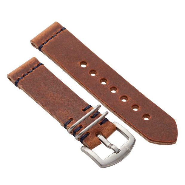 Military Watch Strap with Natural Dublin Leather - JackFosterWatchStrap