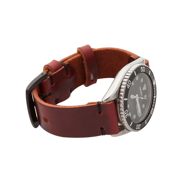 Standard Watch Strap with Oxblood Chromexcel Leather - JackFosterWatchStrap