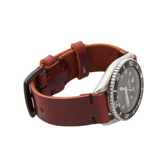 Standard Watch Strap with Oxblood Chromexcel Leather