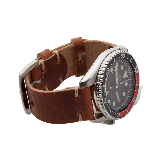 Standard Watch Strap with English Tan Dublin Leather - JackFosterWatchStrap