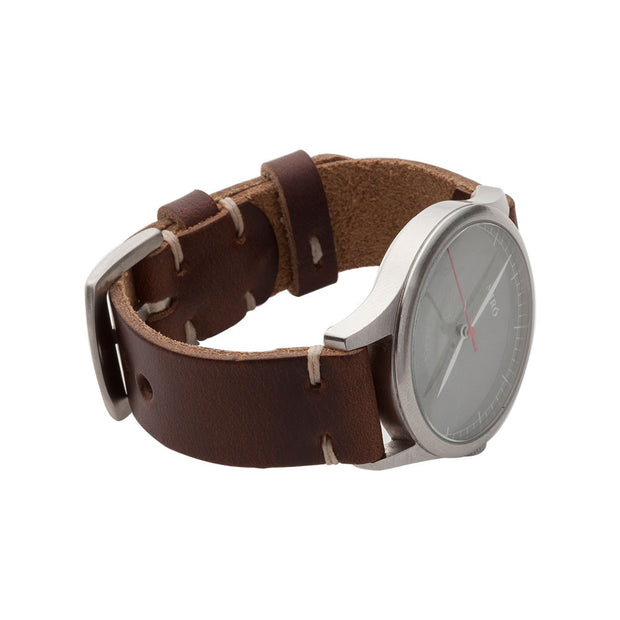 Standard Watch Strap with Dark Brown Chromexcel Leather - JackFosterWatchStrap