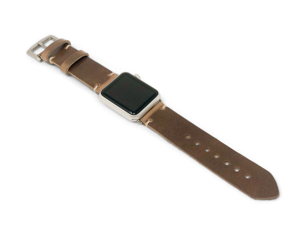 Standard Apple Watch Strap with Natural Chromexcel Leather