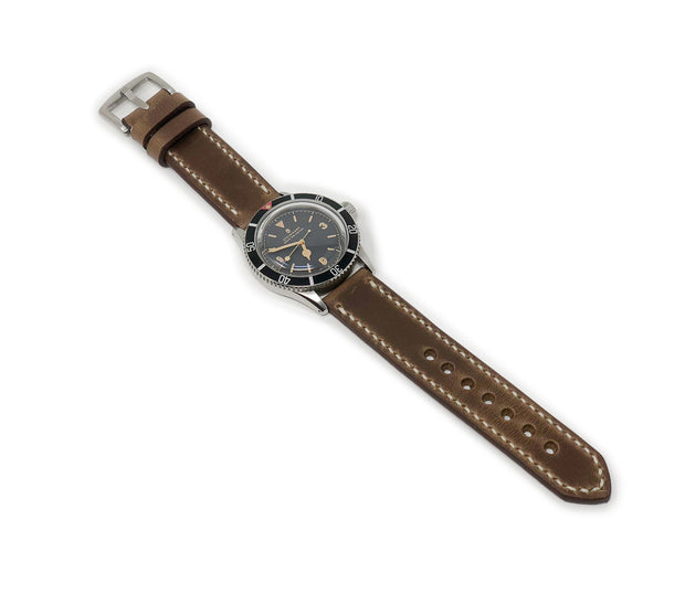 """Calhoun"" Premium Watch Strap with Natural Chromexcel Leather"