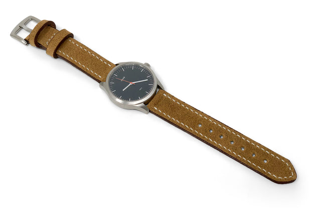 """Calhoun"" Premium Watch Strap with Red Wing Hawthorne Muleskinner Roughout"