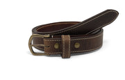 Handmade Leather Belt | Horween Dublin | Nut Brown