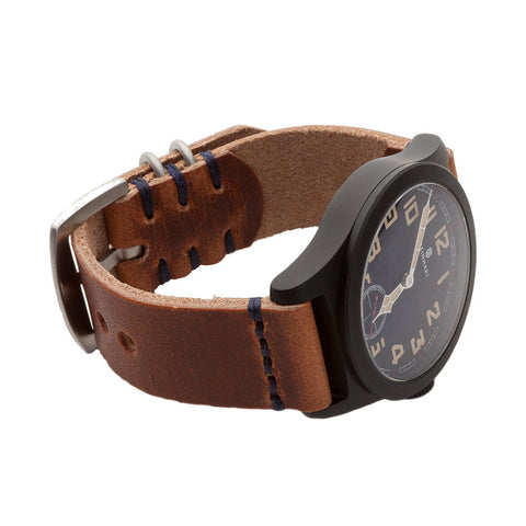 Military Watch Strap with Natural Dublin Leather